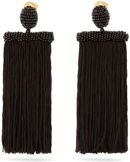 Waterfall Tassel-drop Clip-on Earrings