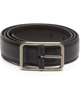 Reversible Grained-leather Belt