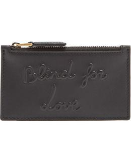 Blind For Love Embossed Leather Cardholder