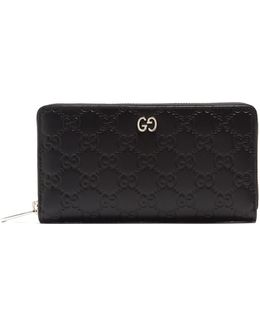 Dorian Gg-debossed Leather Zip-around Wallet