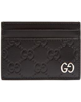 Dorian Gg-debossed Leather Cardholder