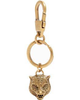 Tiger's Head Key Ring