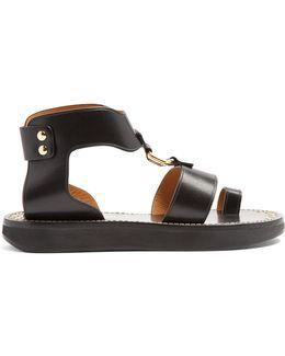 Étoile Nindle T-bar Leather Sandals