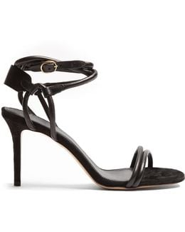 Aoda Leather And Suede Sandals
