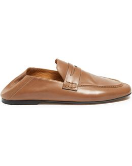 Étoile Fanzel Collapsible-heel Leather Loafers
