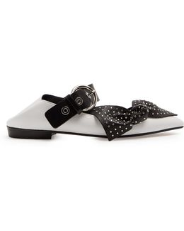 Pradly Collapsible-heel Point-toe Leather Flats