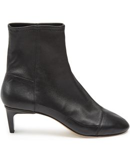 Daevel Leather Ankle Boots