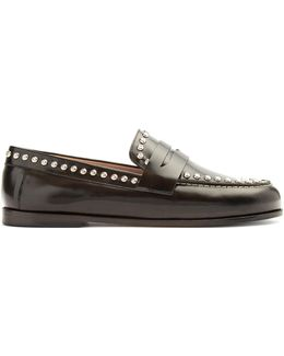 Fenzay Stud-embellished Leather Loafers