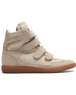 Bilsy Concealed-wedge Suede Trainers