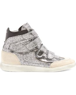 Bilsy Concealed-wedge Metallic Leather Trainers