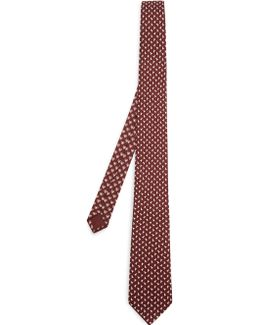 Arrow-print Silk-twill Tie