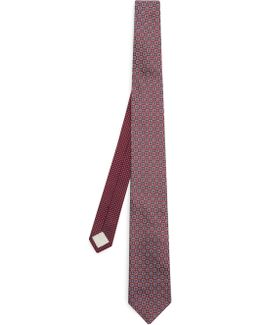 Foulard-jacquard Silk Tie