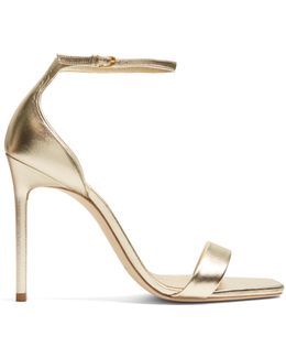 Amber Metallic-leather Sandals