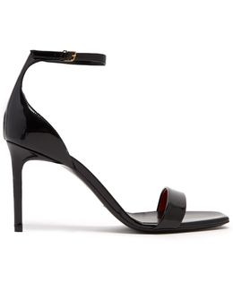 Amber Patent-leather Sandals