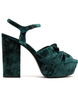Farrah Velvet Platform Sandals