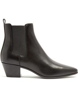 Rock Cuban-heel Leather Chelsea Boots