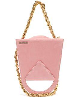 Upside-down Triple-chain Suede Bag