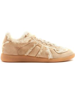 Replica Low-top Shearling-lined Trainers