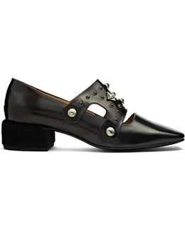 Polido Stud-embellished Leather Loafers