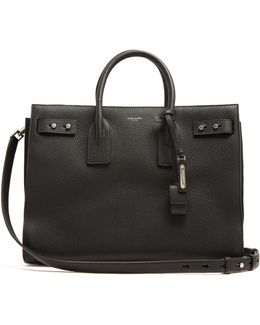 Sac De Jour Medium Grained-leather Tote