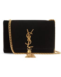 Kate Small Velvet Cross-body Bag