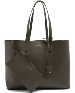 East West Medium Leather Tote