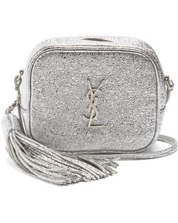 Monogram Blogger Crackled-leather Cross-body Bag