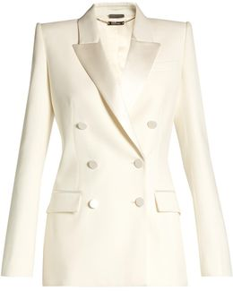 Satin-lapel Double-breasted Jacket