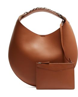 Infinity Small Leather Chain Hobo Bag