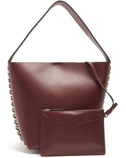 Infinity Leather Chain Tote Bag