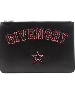 Logo-appliqué Large Leather Pouch