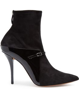 New Feminine Suede And Leather Ankle Boots