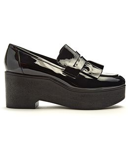 Xock Patent-leather Platform Loafers