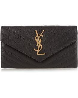 Monogram Pebbled-leather Wallet