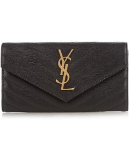 Monogram Pebbled-leather Wallet