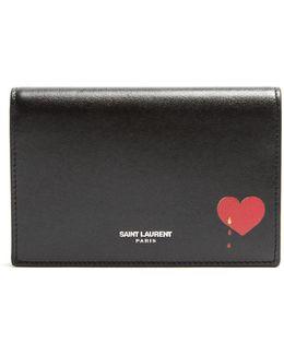 Front-flap Leather Cardholder