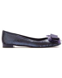 Marla Bow-detail Sequin-embellished Ballet Flats