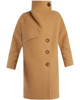 Ciara Funnel-neck Wool-blend Coat
