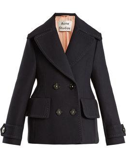 Cheye T Melton Double-breasted Wool Coat