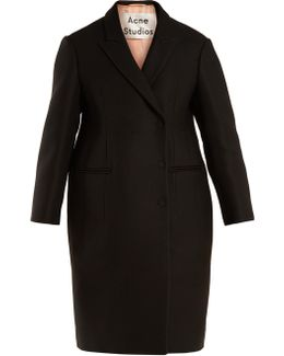 Caith Double-breasted Twill Coat