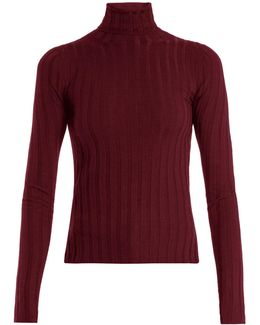 Corina Ribbed-knit Wool-blend Sweater