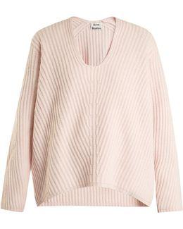 Deborah Oversized V-neck Wool Sweater