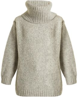 Ashia Oversized Roll-neck Alpaca-blend Sweater