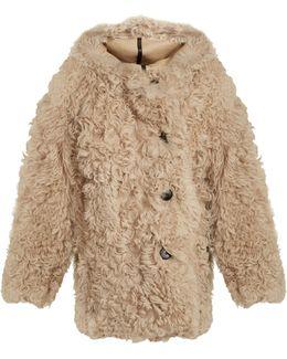 Lune Oversized Shearling Coat