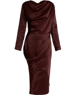 New Fond Asymmetric Satin Dress