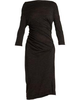 Taxa Asymmetric Draped Jersey Dress