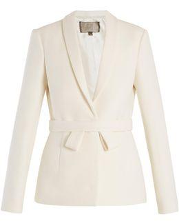 Single-breasted Shawl-lapel Wool Jacket