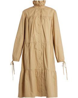 Ruffled-collar Tiered Coat