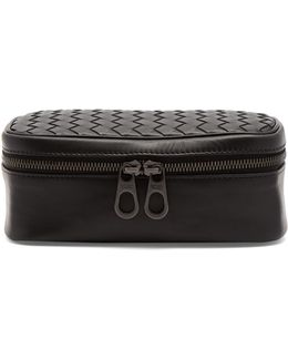 Intrecciato Leather Watch Case
