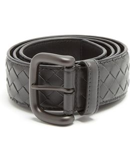 Intrecciato Leather 4cm Belt